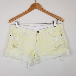 Blank NYC Denim shorts 30 high rise mini Destroyed
